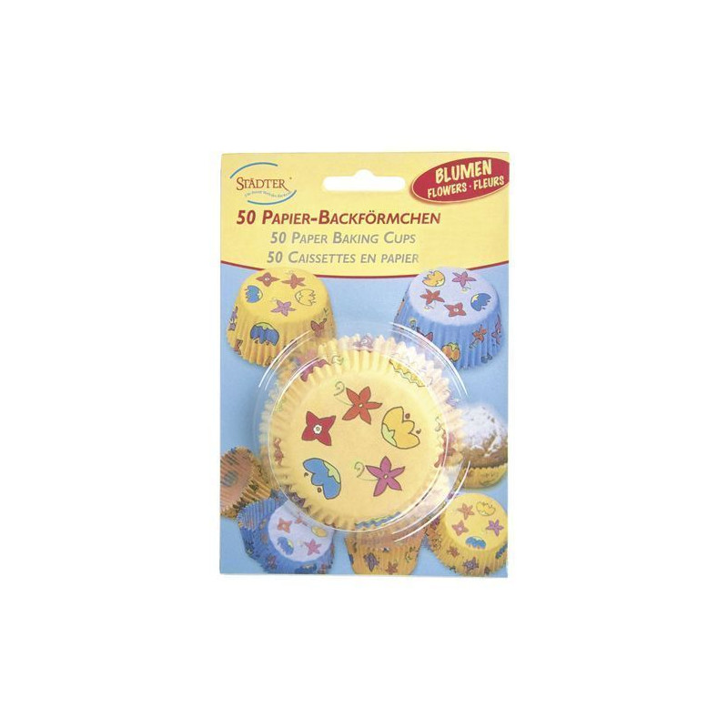 Capsulas mini cupcakes motivos florales Stadler