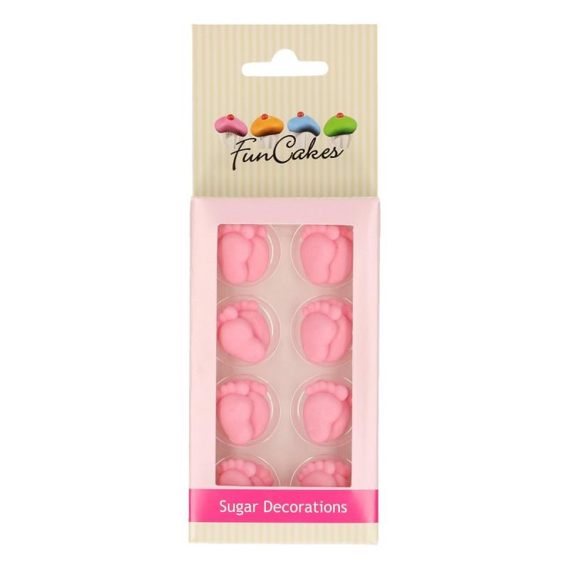 Decoraciones comestibles Pies Bebe Rosa Funcake