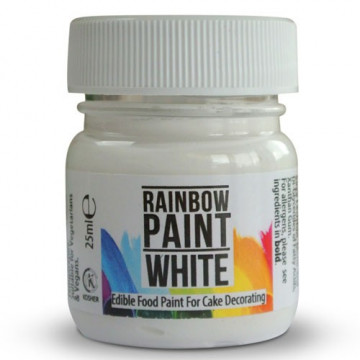 Pintura comestible Blanca Rainbow Dust