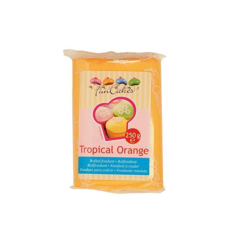 Fondant Naranja Tropical Orange Funcakes 250gr