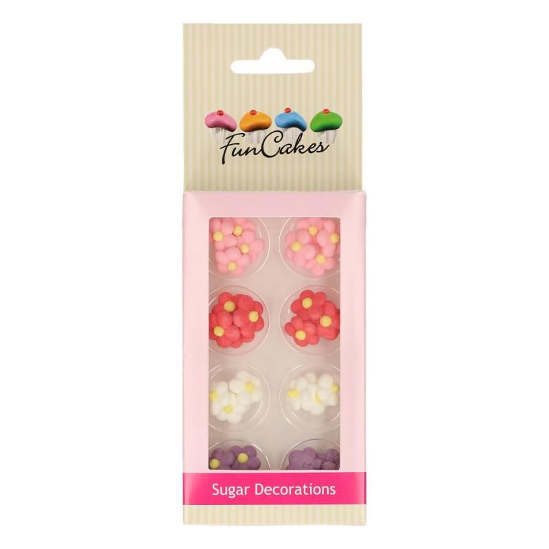 Decoraciones comestibles Flores Colores Funcakes