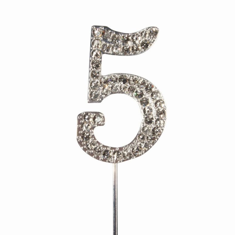 Topper número 5 Diamante
