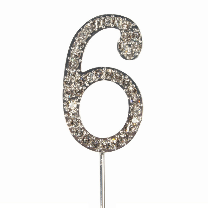 Topper número 6 Diamante