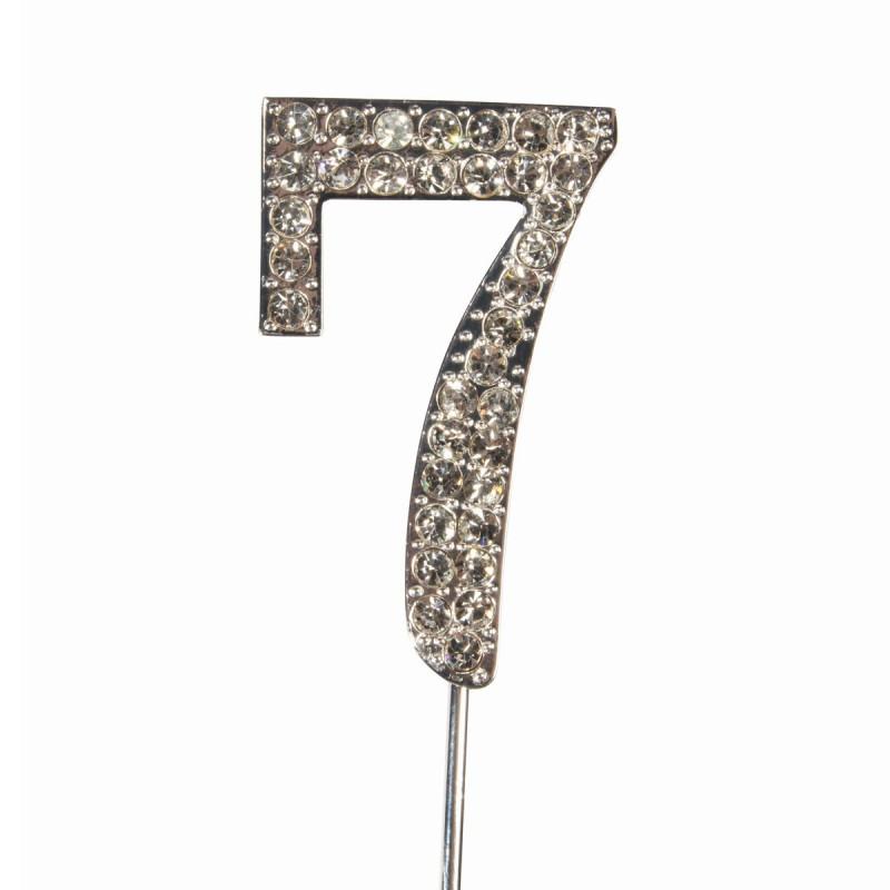Topper número 7 Diamante