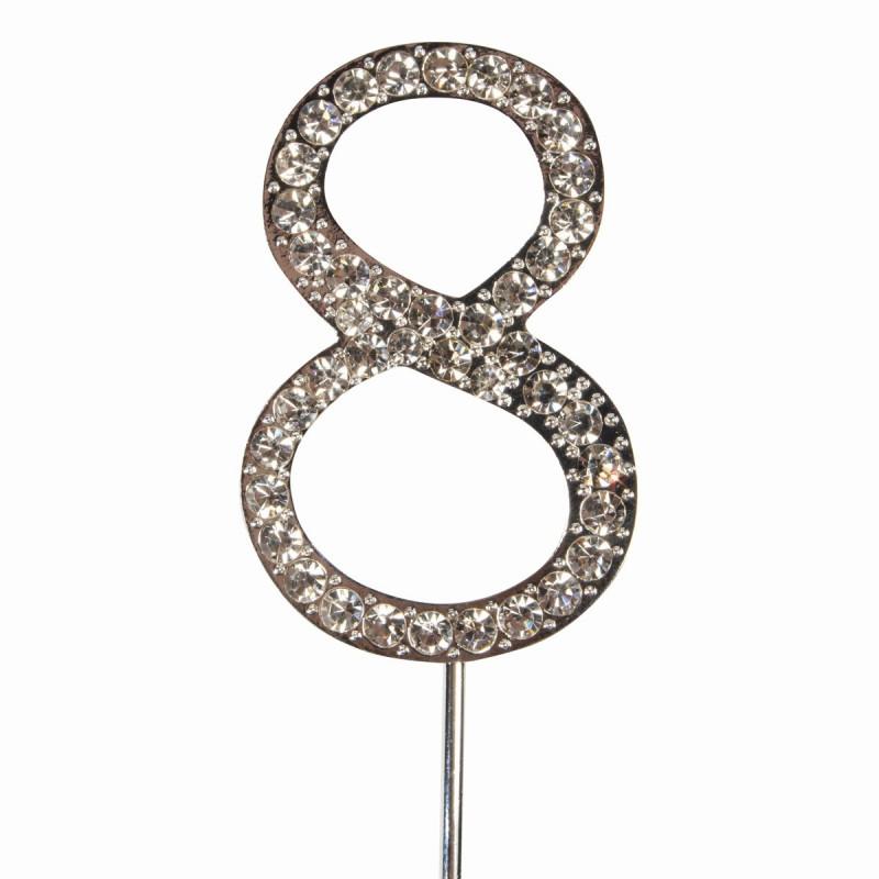 Topper número 8 Diamante