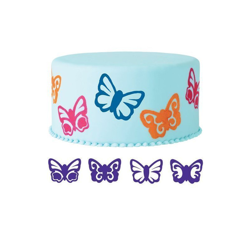 Sello Estampación Pack 4 Mariposas Wilton