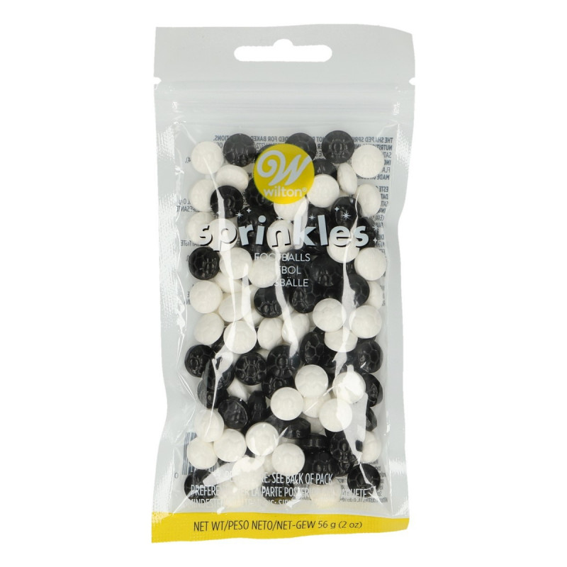 Sprinkles Balones de Fútbol Wilton