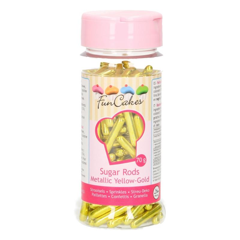 Sprinkles Palitos de Azúcar Amarillo Funcakes