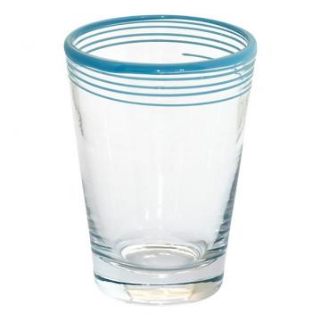 Vaso de cristal con rayas azules Green Gate
