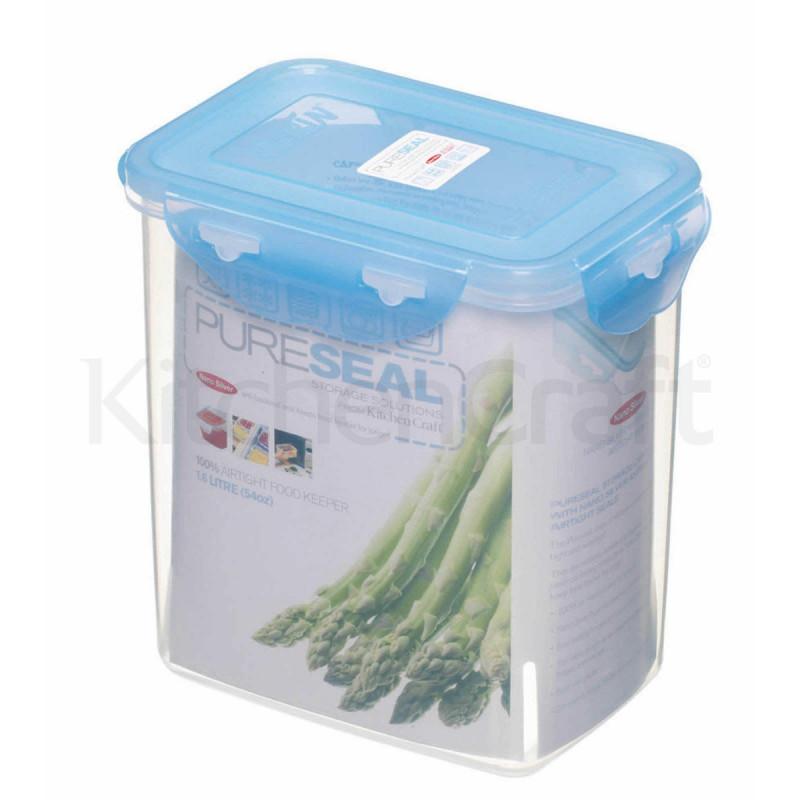 Tupper con tapa rectangular 1.6 L Pure Seal Kitchen Craft