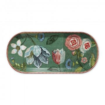 Bandeja ovalada de 33 cm Spring to Life Verde Pip Studio