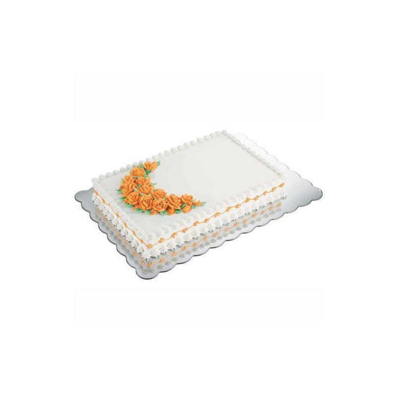 Platos para tartas rectangular 32,5 x 47,5 cm Pack 4 unidades Wilton