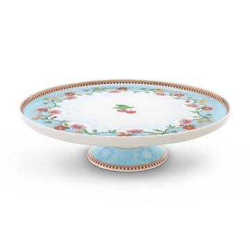Cake Stand de cerámica 21 cm Floral Cherry Azul Pip Studio