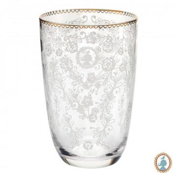 Vaso de cristal alto labrado Floral Pip Studio