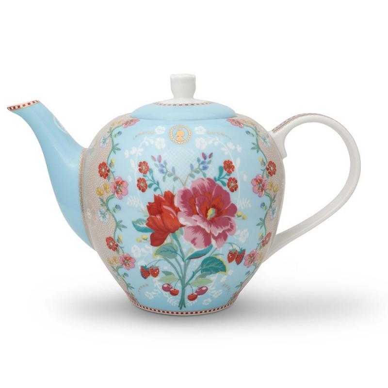 Tetera de cerámica Floral Azul Pip Studio