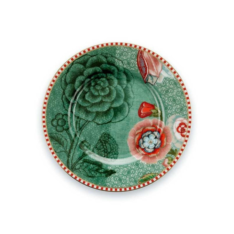 Plato de postre de cerámica 12 cm Spring to Life Verde Pip Studio