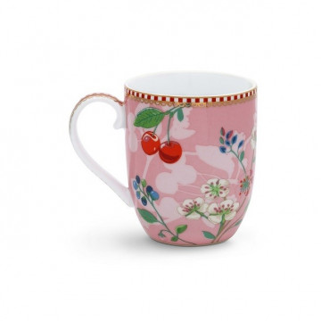 Taza con asa mediana Hummingbirds Pink Pip Studio
