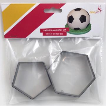 Pack de 2 cortantes Hexágono Pentágono Balón de Futbol Dekofee