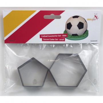 Pack de 2 cortantes Mediano Hexágono Pentágono Balón de Futbol Dekofee