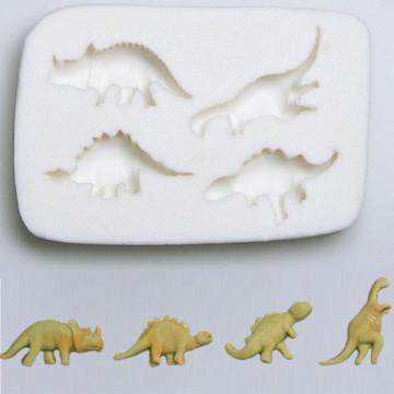 Molde Silicona en forma de Dinosaurios Stadler