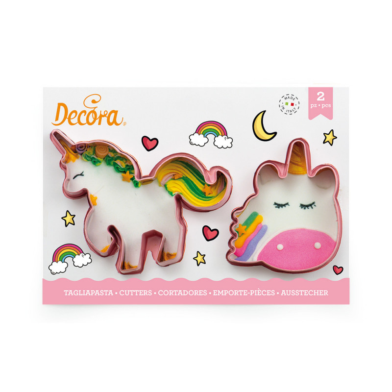 Pack de 2 cortantes Unicornios Decora Italia