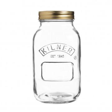 Tarro de cristal con tapa 1 litro Kilner