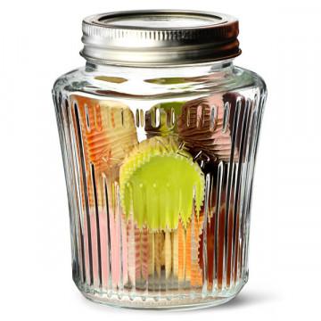 Tarro de cristal con tapa y rayas 500 ml Kilner