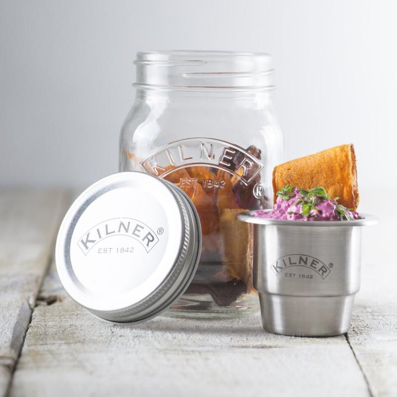Tarro de cristal con tapa Snack on the Go 500 ml Kilner