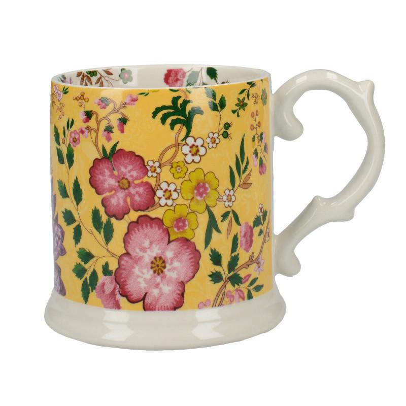 Tazón con asa Eastern Floral Amarillo Creative Tops