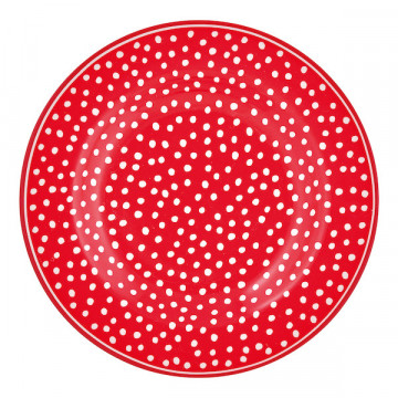 Plato de cerámica 15 cm Dot Red Green Gate