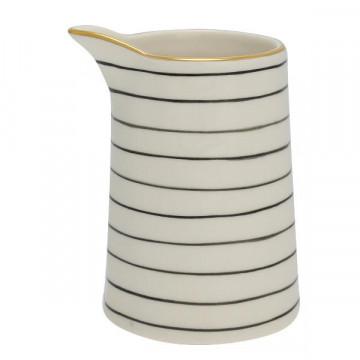 Lechera de cerámica sin asa 500 ml Sally Black Green Gate