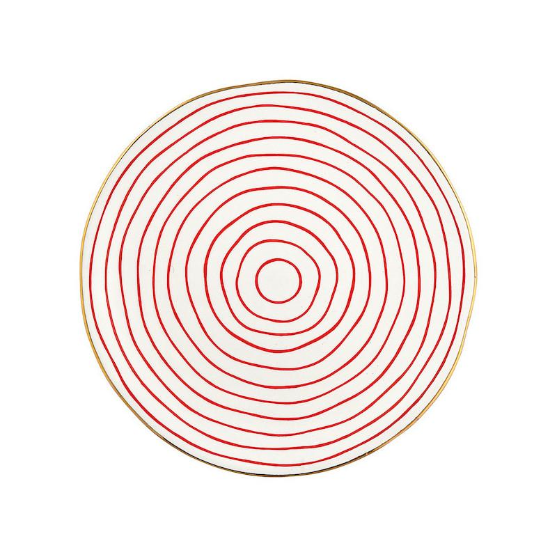 Plato de cerámica de 26 cm Sally Red Green Gate