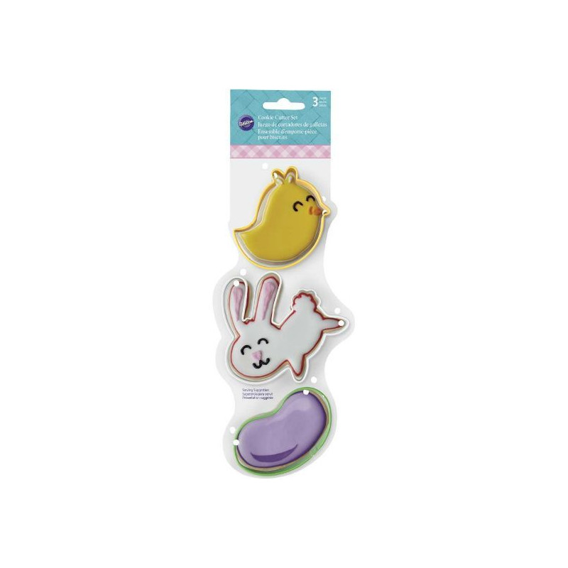 Pack de 3 cortantes de Pascua: Conejo, Haba y Pollito