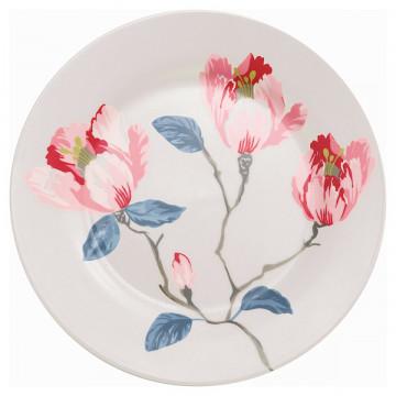 Plato de cerámica de 20 cm Magnolia White Green Gate
