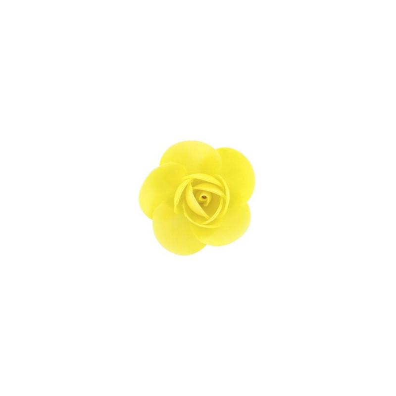 Pack de 4 Flores de Oblea Amarillo Modecor