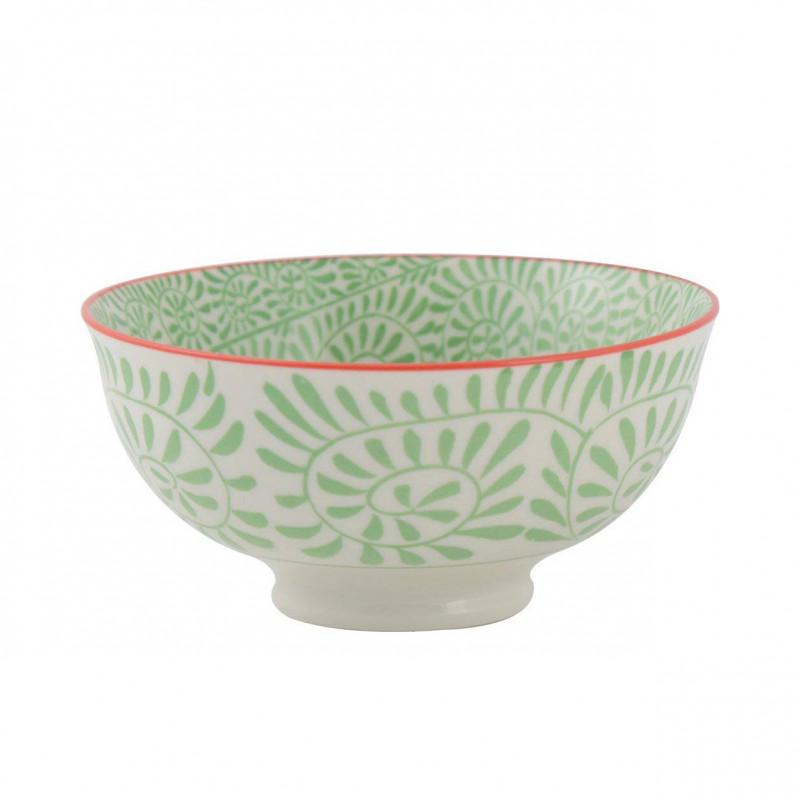 Bol de cerámica 11.5 cm Hojas Verdes Creative Tops
