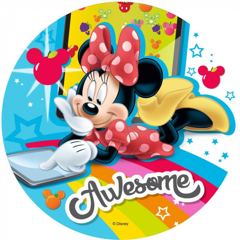 Oblea comestible Minnie Móvil Modecor