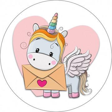 Oblea comestible Unicornio Carta Modecor
