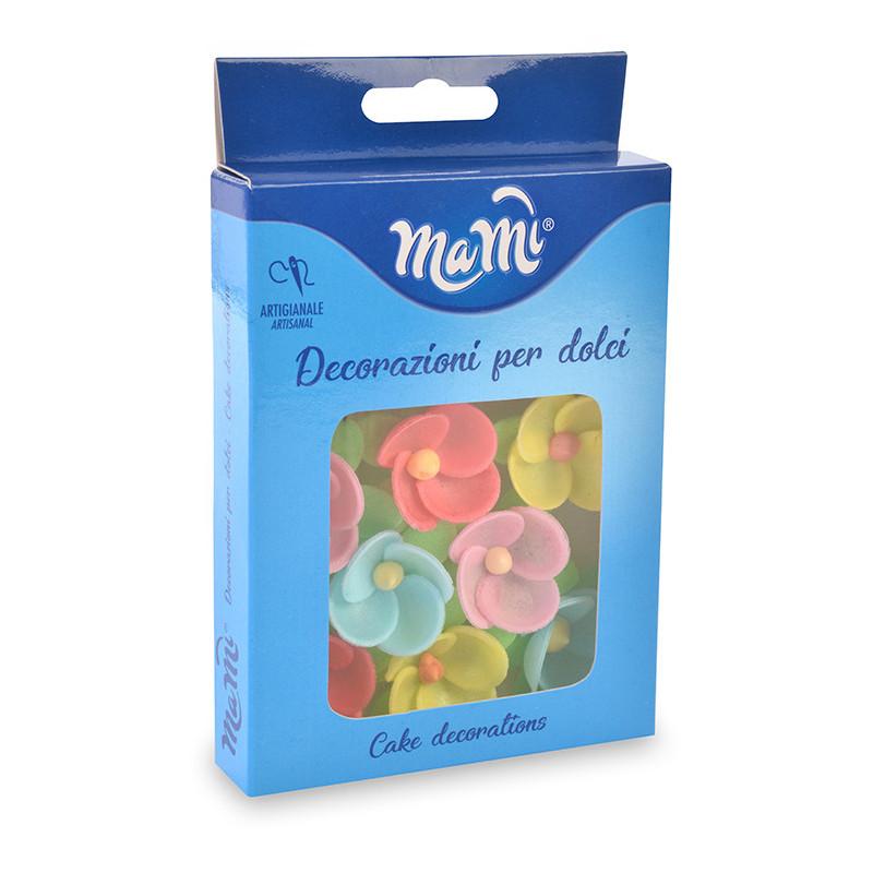 Pack de 8 Flores de Oblea Colores Modecor