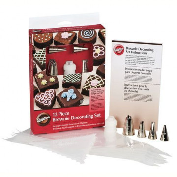 Brownie Set 12 piezas para decorar Wilton