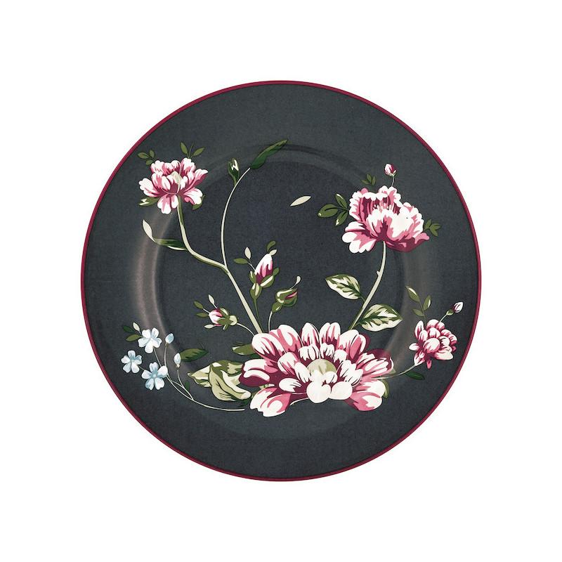 Plato de cerámica 20 cm Penelope Dark Grey Green Gate