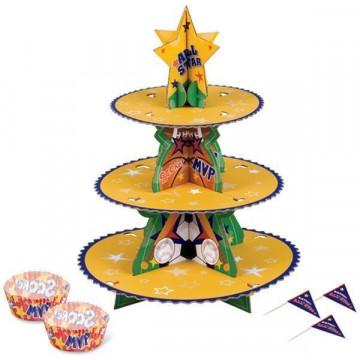 Stand de presentación cupcakes Sports Wilton
