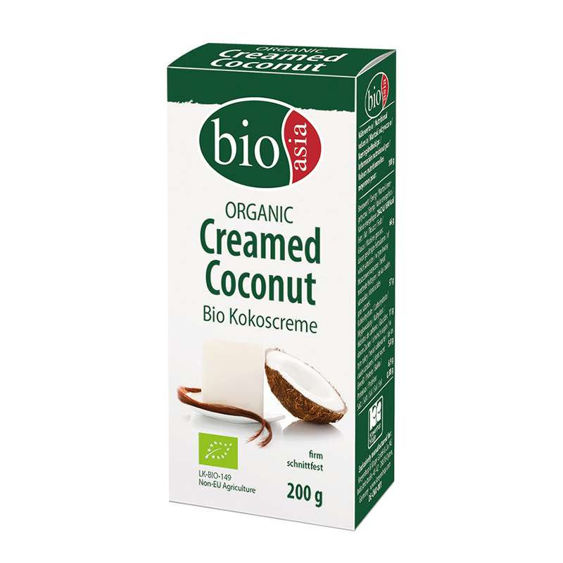 Crema de coco Orgánica 200 gr BioAsia