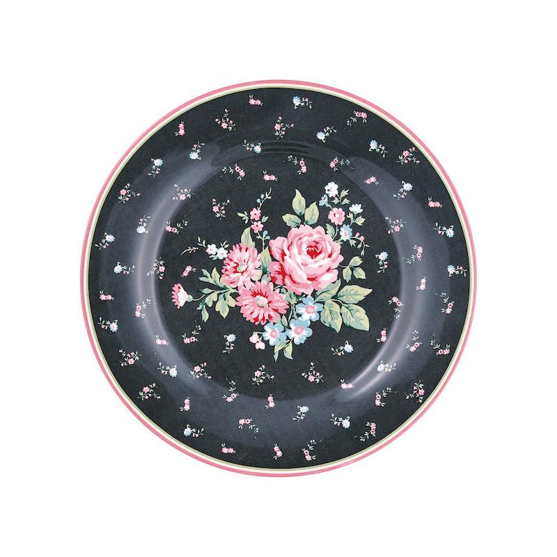 Plato de cerámica de 20 cm Marley Dark Grey Green Gate