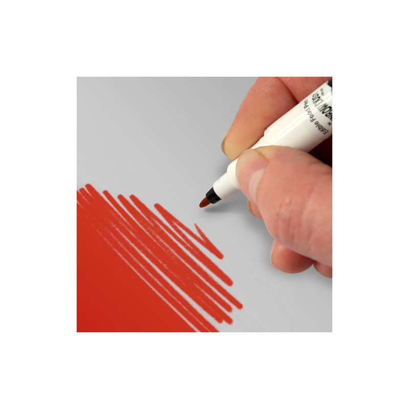 Rotulador comestible Rojo con doble punta Rainbow dust