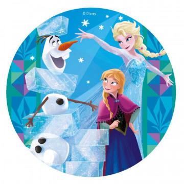 Oblea para tarta Anna y Elsa Frozen