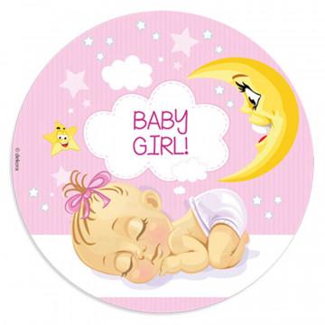 Oblea comestible Bebe Niña 2