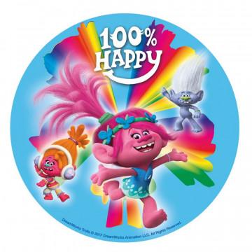 Oblea comestible Peppa Trolls Happy Dekora