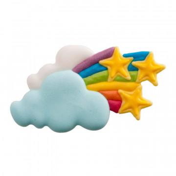 Decoraciones de azúcar Unicornio Arcoíris Estrellas Dekora
