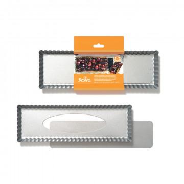 Molde rectangular borde rizado 35 x 11 cm Decora Italia